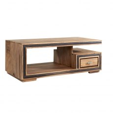 Jodhpur Coffee Table With Drawer - Sheesham Wood