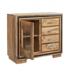 Jodhpur Sideboard With Glass - Sheesham Wood
