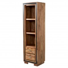 Jodhpur Slim Bookcase - Sheesham Wood