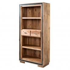Large Wide Bookcase - Sheesham Wood