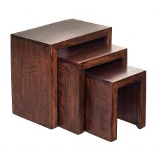 Toko Nest Of 3 Tables - Dark Mango Wood
