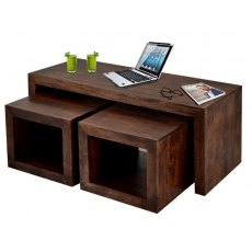 Toko Cubed John Long Coffee Table - Dark Mango Wood