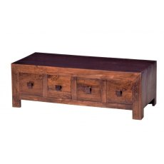 Toko 8 Drawer Coffee Table - Dark Mango Wood
