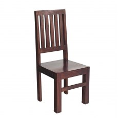 Toko Slat Back Chairs (x2) - Dark Mango Wood