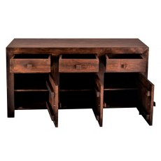 Toko Large Sideboard - Dark Mango Wood