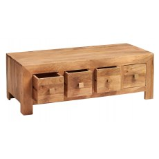 Toko 8 Drawer Coffee Table - Light Mango Wood