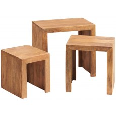 Toko Nest Of 3 Tables - Light Mango Wood