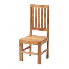 Toko Slat Back Chairs (x2) - Light Mango Wood