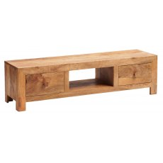 Toko Wide Screen TV Unit - Light Mango Wood