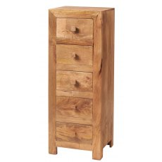 Toko Light Mango 5 Drawer Chest - Light Mango Wood