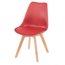 Alpine Upholstered Moulded Plastic Chairs (x2)