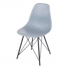 Pair of Grey Davos Dining Chairs - Grey