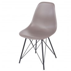 Pair of Brown Davos Dining Chairs - Truffel