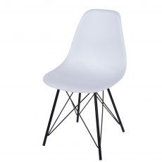 Pair of White Davos Dining Chairs