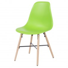 Pair of Sion Dining Chairs - Green