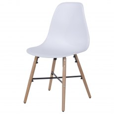 Pair of Sion Dining Chairs - White