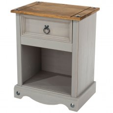 Tolland One Drawer Bedside Cabinet - Grey