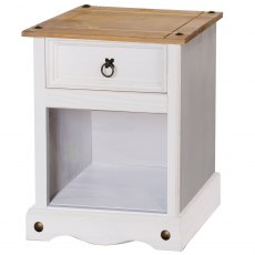 Tolland One Drawer Bedside Cabinet - White