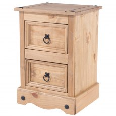 Tolland 2 Drawers Bedside Cabinet