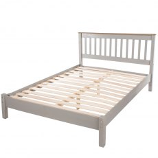 Tolland Bed with Low Bed End - Grey