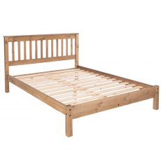 Tolland Bed with Low Bed End - Pine