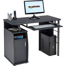 Elver Compact Desk - Graphite Black