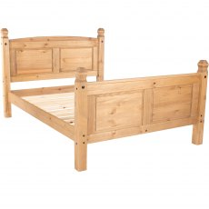Tolland Bed High End - Pine