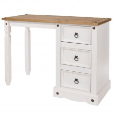 Tolland Single Pedestal Dressing Table - White
