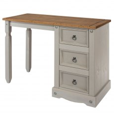 Tolland Single Pedestal Dressing Table - Grey