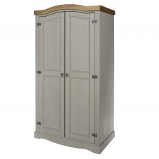 Tolland 2 Door Wardrobe - Grey
