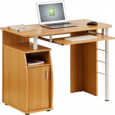 Elver Compact Desk - Oak
