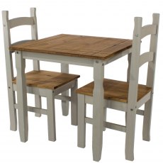 Tolland Square Dining Table & 2 Chair Set - Grey