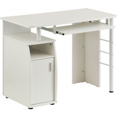 Elver Compact Desk - White Woodgrain