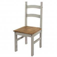 Tolland Solid Pine Chairs x 2 - Grey