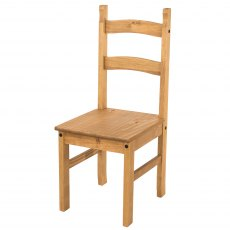 Pair of Tolland Solid Pine Chairs - Pine