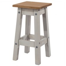 Tolland Low kitchen Stool x2 - Grey