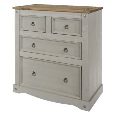 Tolland 4 Drawer Chest of Drawers - Grey