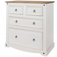 Tolland 4 Drawer Chest of Drawers - White