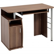 Elver Compact Desk - Dark Walnut