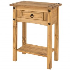 Tolland 1 Drawer Hall Table with Shelf - Pine
