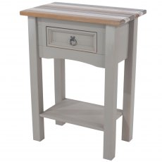 Tolland 1 Drawer Hall Table with Shelf - Painted Wood - Grey