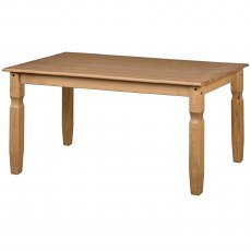 Tolland Large Rectangular Dining Table - Pine