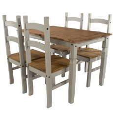 Tolland Rectangular Dining Table & 4 Chair Set