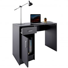 Javelin Desk - Black Woodgrain