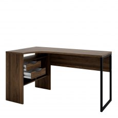 Tarm 2 Drawers Corner Desk - Walnut