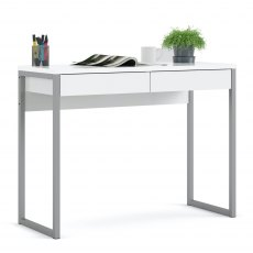 Tarm 2 Drawers Desk - White