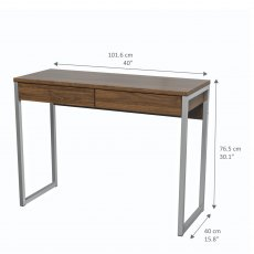 Tarm 2 Drawers Desk - Walnut