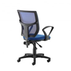 Jory 380 Mesh Back Office Chair With Fixed Arms - Blue