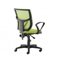 Jory 380 Mesh Back Office Chair With Fixed Arms - Green