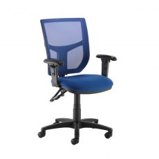 Jory 480 Mesh Back Office Chair With Adjustable Arms - Blue